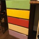 アンティーク家具 木製 カラー 引き出し