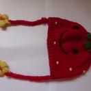 女児冬用帽子 53cm