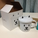 71番)softbankお父さんマグカップ蓋付き 箱あり 新品未使用