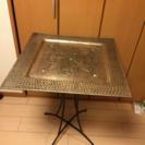 インド製トレイ上乗せタイプサイドテーブル