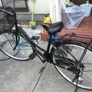 黒い自転車。一年前購入。