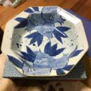 福岡県の焼物、盛鉢 新品未使用品 ざくろ柄