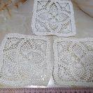レース編みのコースター3枚セット