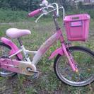 18インチ補助輪付自転車 低学年の女の子向け‼