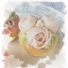 【満席御礼】6月2日(金)じっくりお花絞り☆あんフラワー®カップケーキワンデーレッスン - フラワー