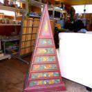 未使用品 アジアン家具 三角 引き出し バリ島 輸入家具