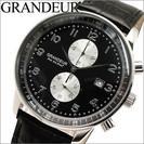 【未使用品】GRANDEUR グランドール/メンズ 時計  ブラ...