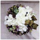 6月◆アレンジメントレッスン◆紫陽花のアレンジメント(3席) − 埼玉県