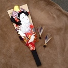 【商談中】羽子板と羽 綺麗な京美人 多分飾ってもらうモノだと思います