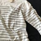 ポートネック七分袖Tシャツ