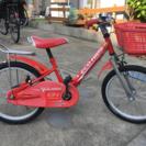 【値下げ】子供用18インチ自転車 補助輪なし