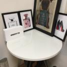 美品 円型テーブル