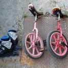 インラインスケートと一輪車2つのセット