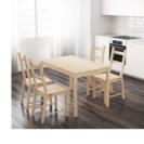 IKEA ダイニングテーブルと椅子2脚