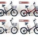 ◆値下げです(涙)◆折りたたみ自転車 20インチ シマノ社製6段変...