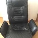 肘付き 座椅子 ブラック