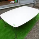 白 折りたたみ式 座卓