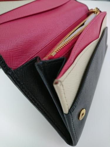 5d7f6b1465a6 プラダ(Prada)サフィアーノ 二つ折り長財布 マルチカラー - 服/ファッション