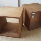 ボックス収納☆キューブボックス☆木製☆2個