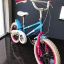 江戸川区 自転車 BMX風 子供 16インチ 女子
