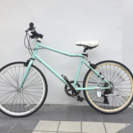 osso 女性向けクロスバイク 7段変速 クロモリ製