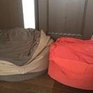 【無印良品】ビーズソファ(赤)ミニサイズ