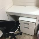 学習デスクセット(デスク、2段キャビネ、椅子)