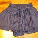 【USED(古着)】ウェストリボン付きショートパンツ(紺)SCOT CLUB - 服/ファッション