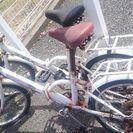 コンパクト折りたたみ自転車二台