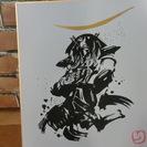 <切り絵>戦国武将 伊達政宗(墨絵風)