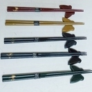 Hanae Mori 塗り箸 箸置き 5客セット