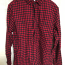 UNIQLOユニクロ 赤×黒のチェックシャツ メンズ L