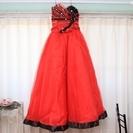 ウェディングドレス(カラードレス)<レッド>