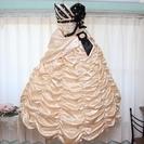 ウェディングドレス(カラードレス)<ベージュ>