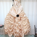 ウェディングドレス(カラードレス)<ベージュ> - 服/ファッション