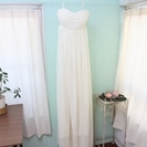 ウェディングドレス/カラードレス/エンパイア/オフホワイト/