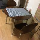 食卓、椅子2脚のセット