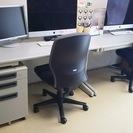 オフィス机&椅子3セットと袖机(アスクル)