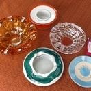 東芝創立100周年印字灰皿を含む昭和レトロな灰皿たち他もあり 未...