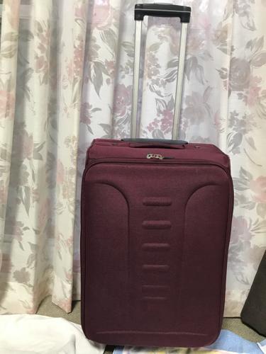 d980b0c3b3 ジャンク品 スーツケース キャリーバッグ FILA フィラ ソフトケース ワインレッドの画像