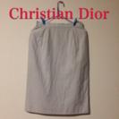 クリスチャンディオール  ストライプタイトスカート