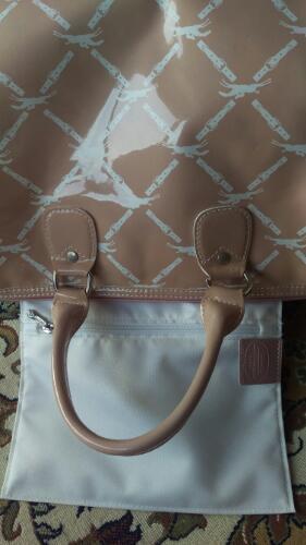 9fc18a69e0cc 大幅値下げ □ロンシャン LONGCHAMP エナメルベージュピンクのハンドバッグ - 靴/バッグ