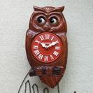 【レア品】 フクロウ(みみずく)時計