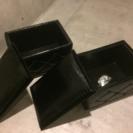 新品・アウトレット 『 ラグジュアリーBOX チェア 』2個セット
