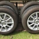 プリウスα使用スタッドレスタイヤ+アルミホイール4本セット
