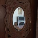 鏡  彫りもの  ハンドメイド