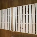 【未使用・美品】木製シングル・折りたたみベッド