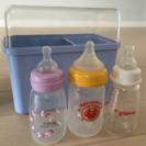 哺乳瓶ケースと哺乳瓶セット