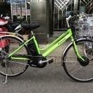 パナソニック 電動自転車 ビビチャージAT ライムグリーン