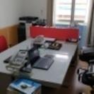 【中古オフィス家具一式】お譲りします・オカムラ平机・オカムラ袖机・...